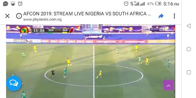 AFCON 2019: STREAM LIVE NIGERIA VS SOUTH AFRICA & SENEGAL VS BENIN
