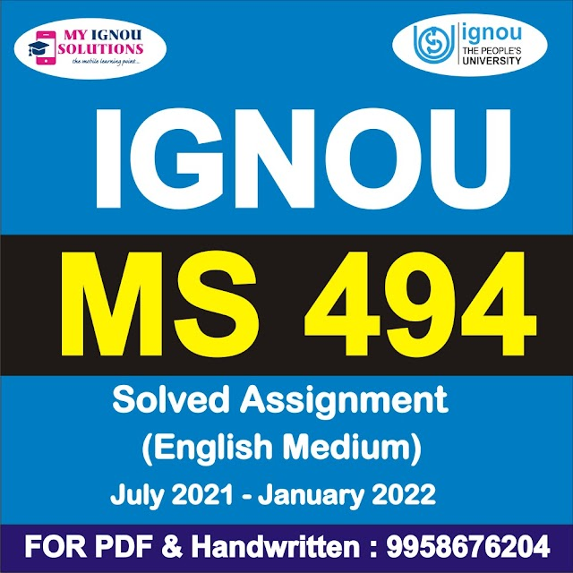 MS 494 Solved Assignment 2021-22