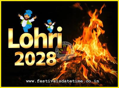 2028 Lohri Festival Date & Time, 2028 Lohri Calendar
