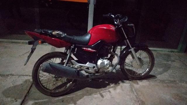 Ação rápida: Polícia Militar recupera moto horas depois de ser roubada no centro de Campo Maior