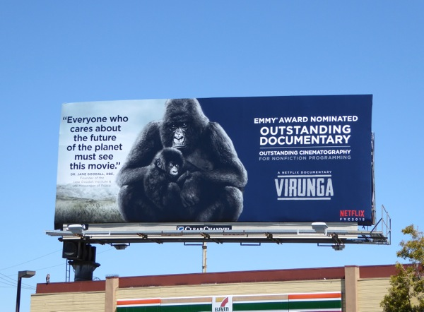 Virunga Documentary 2015 Emmy nomination billboard