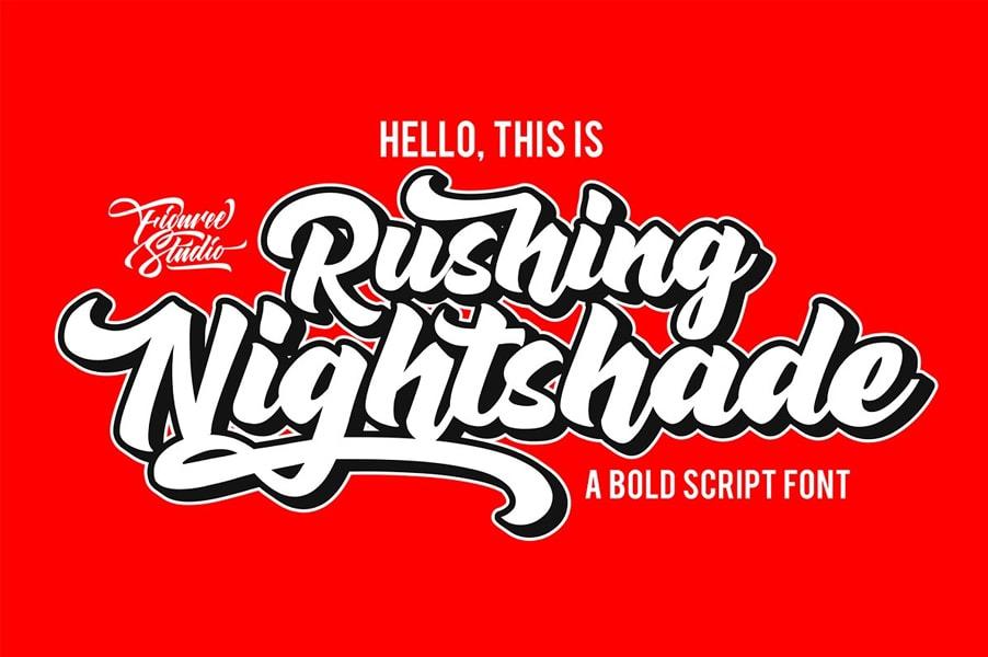 Rushing Nightshade Logo Script Font Free Download - Free