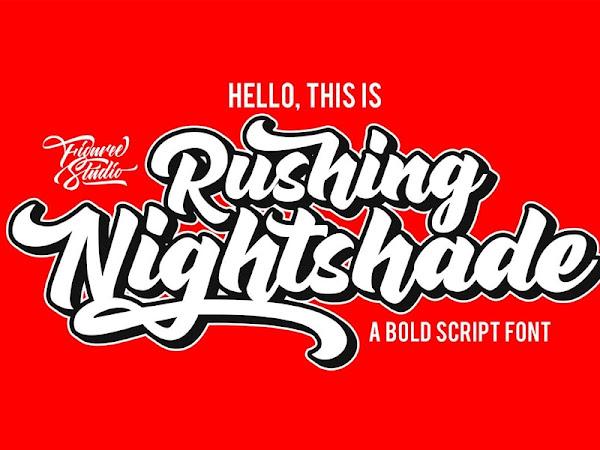 Rushing Nightshade Logo Script Font Free Download