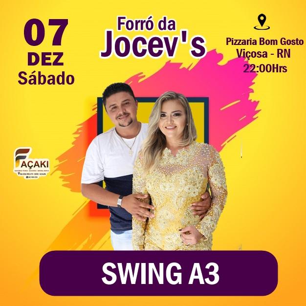 Forró da Jocev's 2019, acontece no dia 07 de dezembro em Viçosa-RN