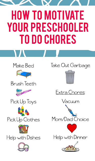 By using stickers and a tiered prize system, you can help your preschooler become motivated to do their chores.