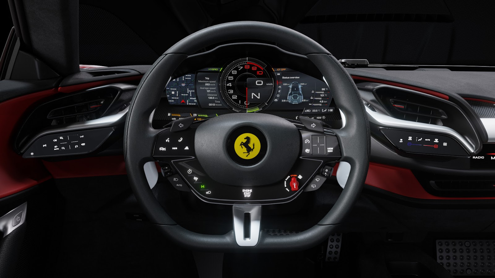Automotiveblogz Ferrari Sf90 Stradale Interior