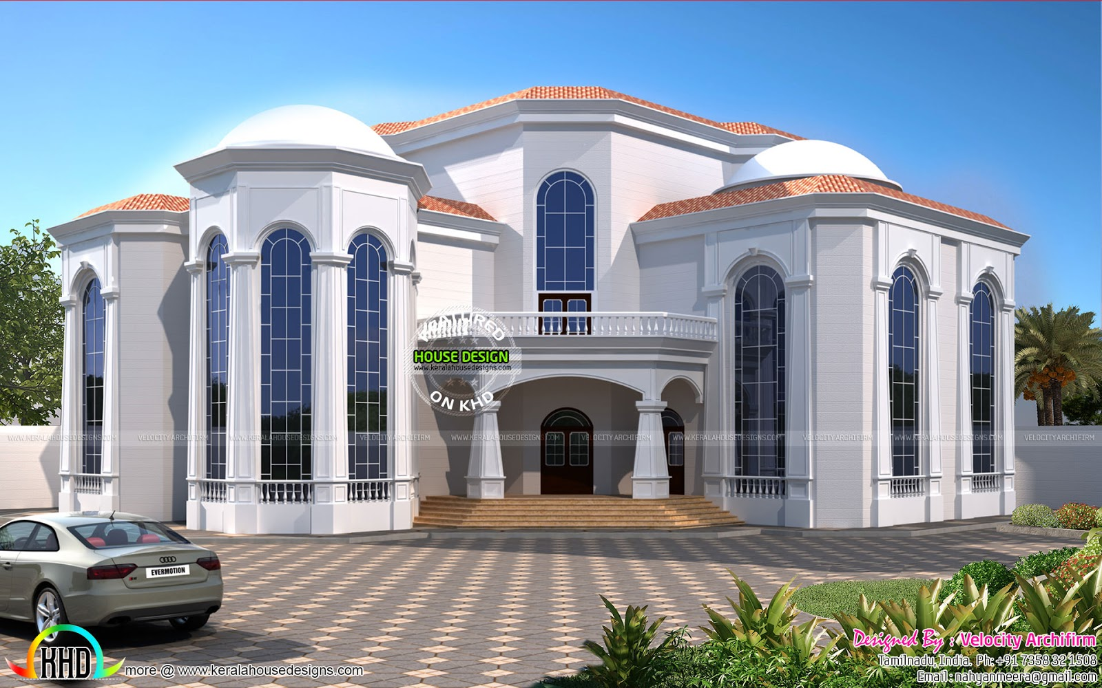 Central Air Conditioner House Plan Kerala Home Design