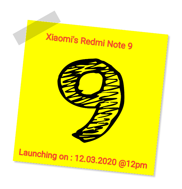 Redmi Note 9 Launching This Month