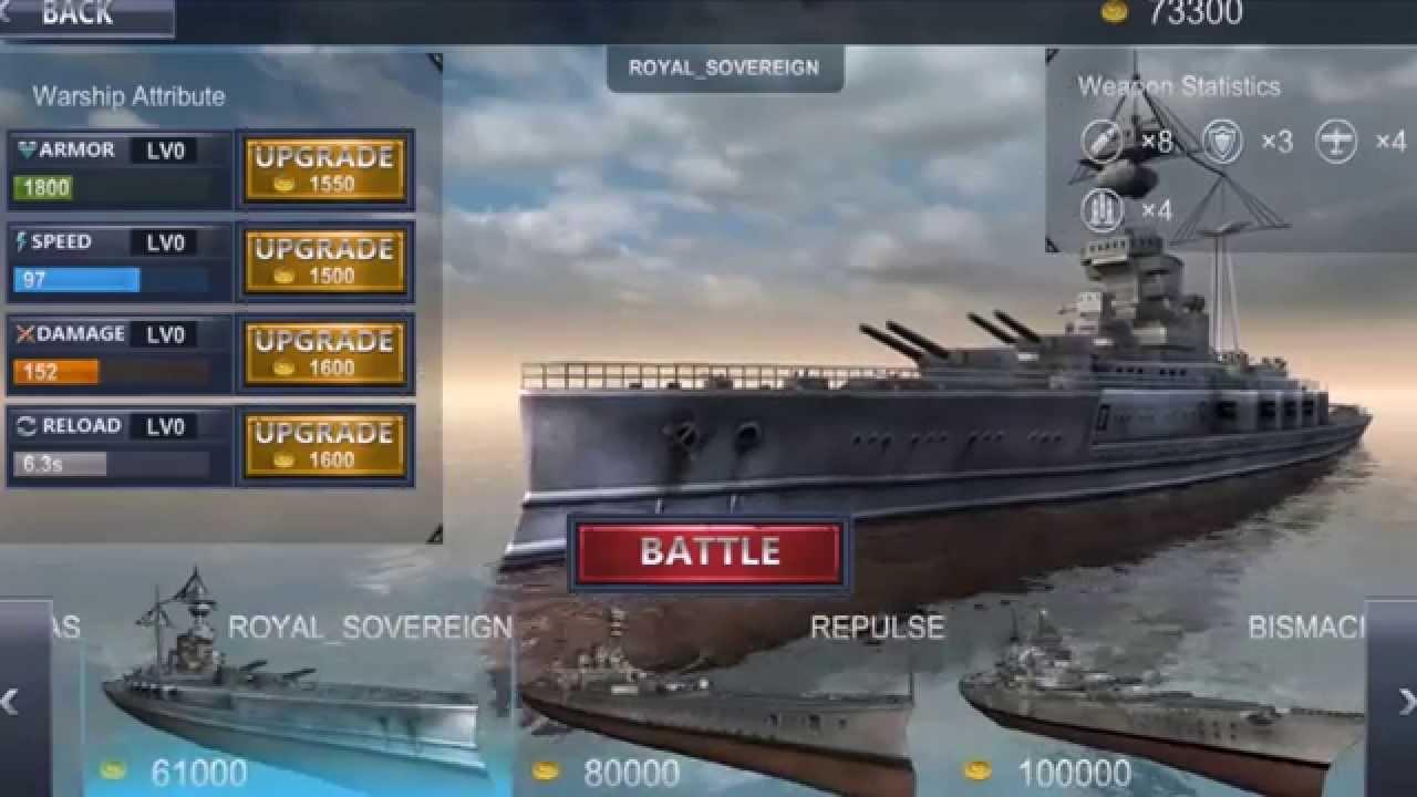 download warship battle 3d mod apk unlimited money