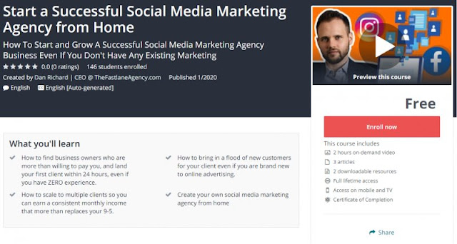 [100% Free] Start a Successful Social Media Marketing Agency from Home
