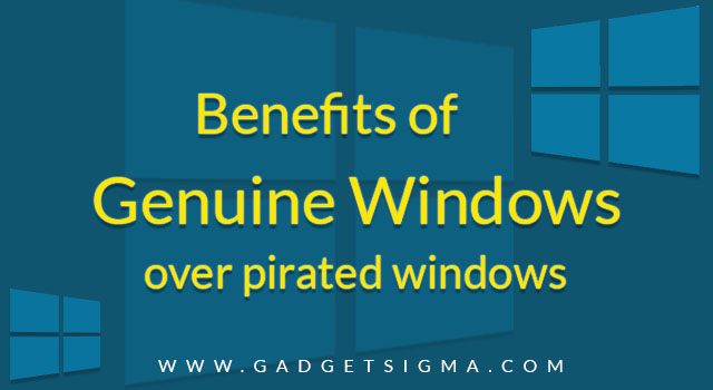 benefits of genuine windows