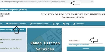 update mobile number in rc book, update mobile number in vehicle registration