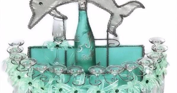 detalles todo party  dolphin toasting glasses set