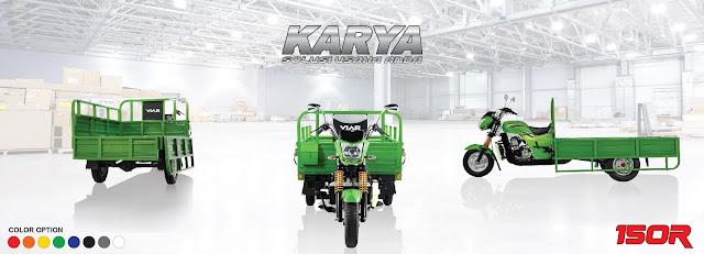 Kembali lagi pada artikel kami, kali ini kita akan membahas mengenai sepeda motor roda tiga dari Viar yakni New Karya 150.