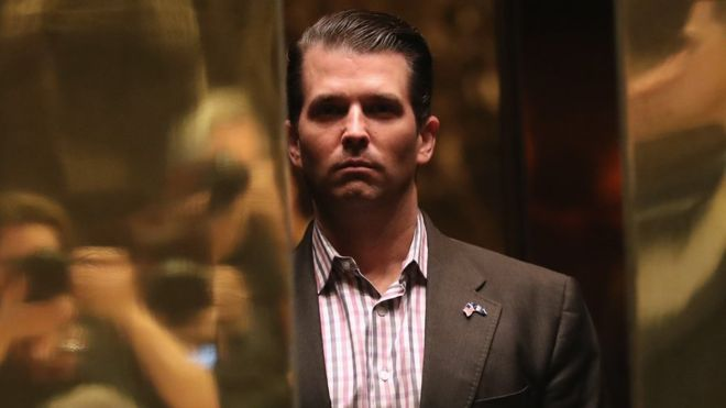Donald Trump Jr 'met Russia lawyer for Clinton information'