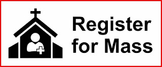 Register for Mass using eventbrite