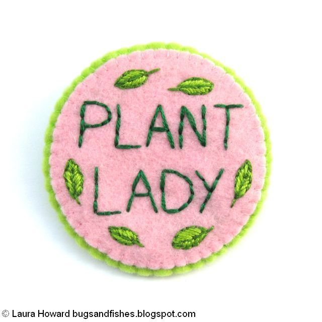 Embroidered Plant Lady Brooch Tutorial