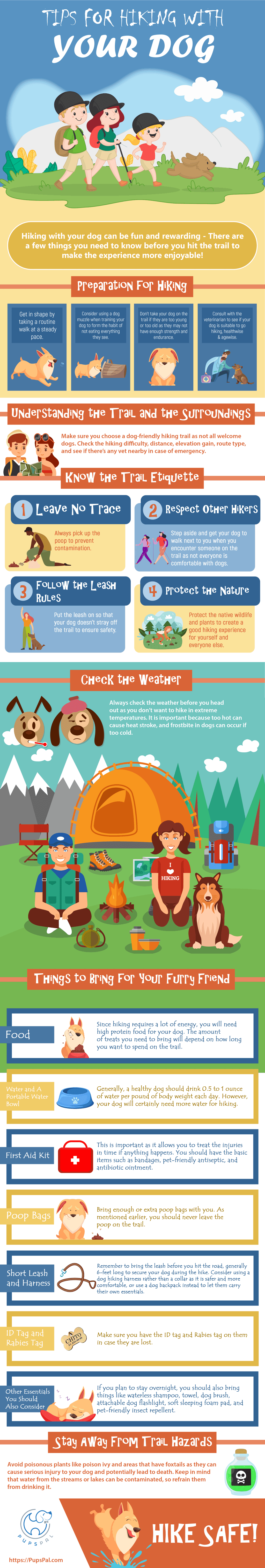 Tips for Hiking with Dog #infographic