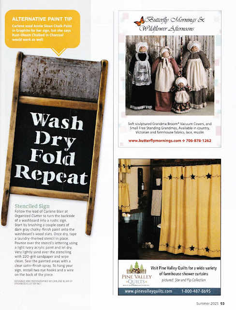 Photo of a washboard article in a magazine