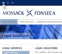 Mossack Fonsecas nettside