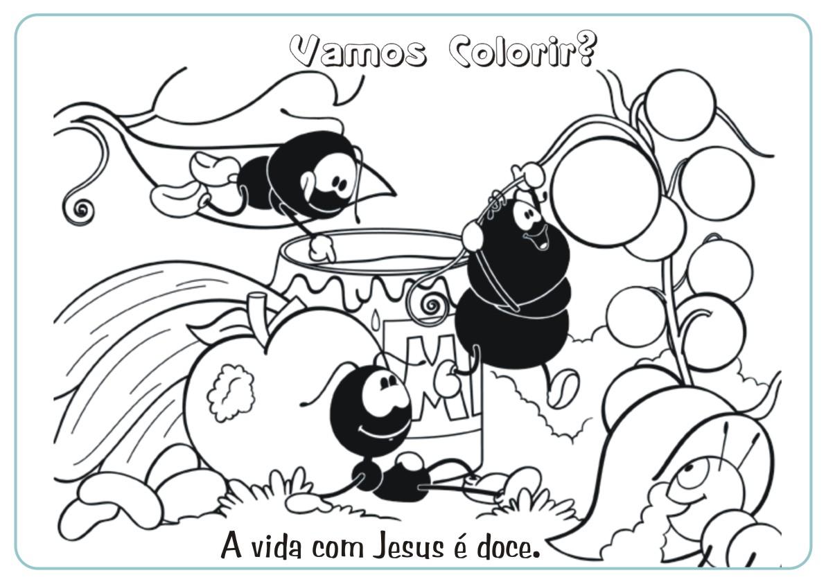 Jesus é A Vida !: Smilinguido Para Colorir E Imprimir