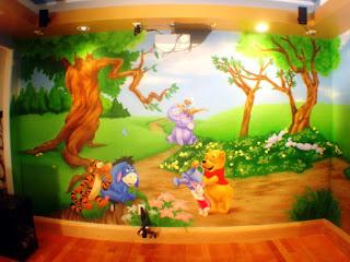 Gambar Wallpaper Dinding Winnie the Pooh Terbaru dan Lucu 20016