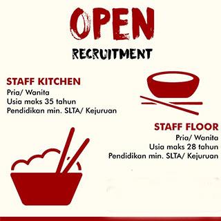 Lowongan Kerja Staff Kitchen dan Staff floor di CV Wira Utama Berkat