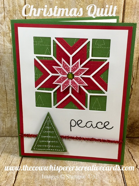 Card, Quilted Christmas, Christmas Quilt, Stitched Felt Embellishments