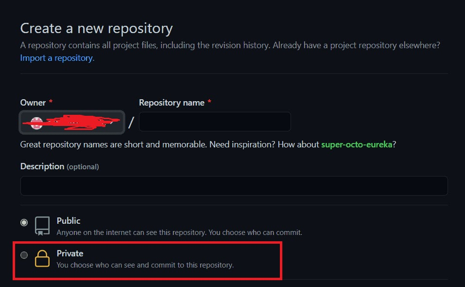 How to create & share a Private GitHub Repository