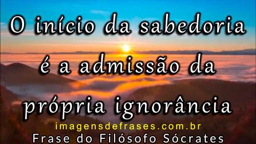 O início da sabedoria é a admissão da própria ignorância