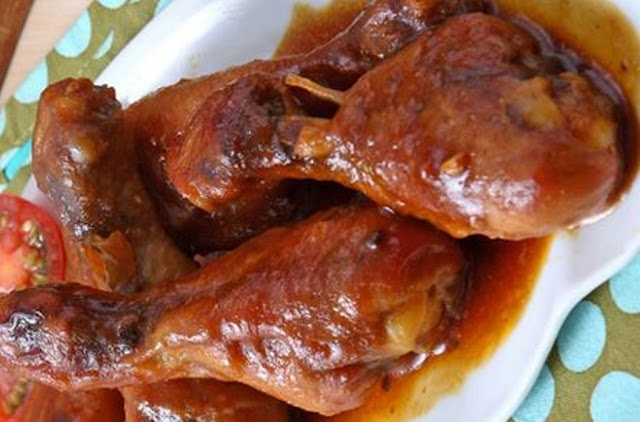 Masak Paha Ayam Panggang Madu Manis Pedas