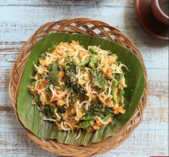 resep urap sayur, kecipir, kacang panjang, nasi jagung, sambal kelapa