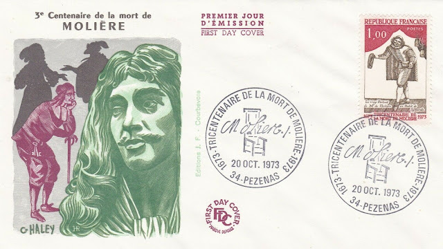 France 1973 FDC Centennial of the Death of Molière