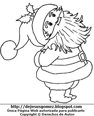 Dibujo de Papa Noel o Santa Claus para colorear pintar e imprimir. Dibujo de Papa Noel o Santa Claus de Jesus Gómez