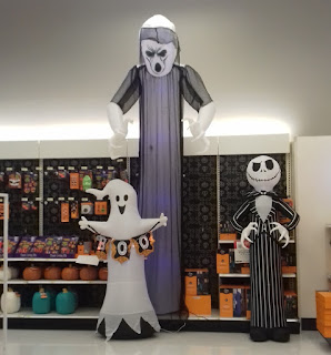 Inflatable Halloween decorations at Target in New Jersey, USA