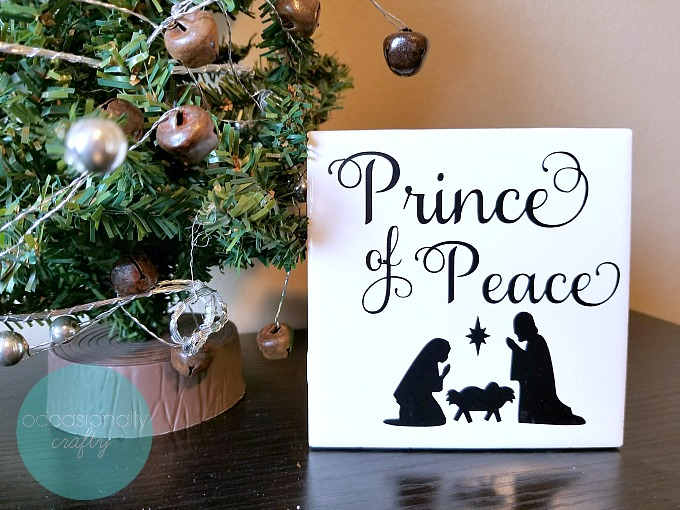 Prince of Peace Christmas Vinyl Tile- Great Relief Society Gift Idea