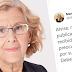 Manuela Carmena demandará al tuitero que la calumnió