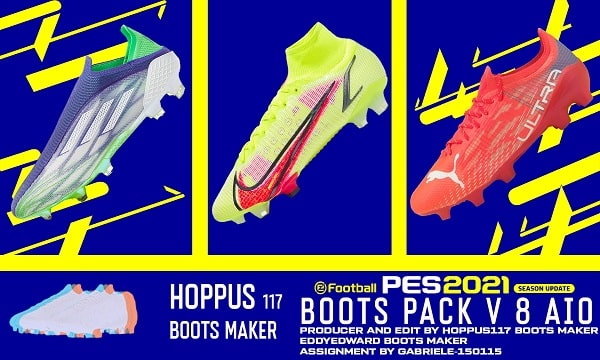 PES 2021 Boots Pack v8 AIO BY Hoppus 117