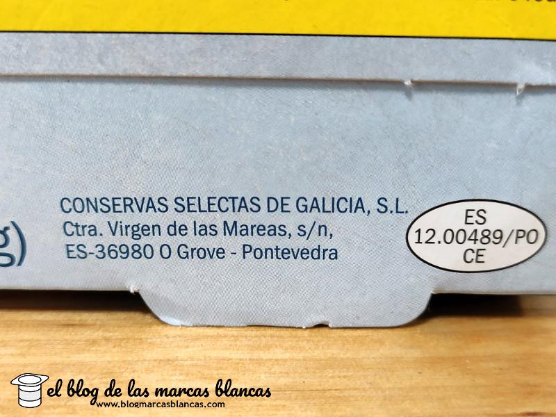 Conservas selectas de Galicia fabrica el Atún claro al natural NIXE (Lidl) - El Blog de las Marcas Blancas