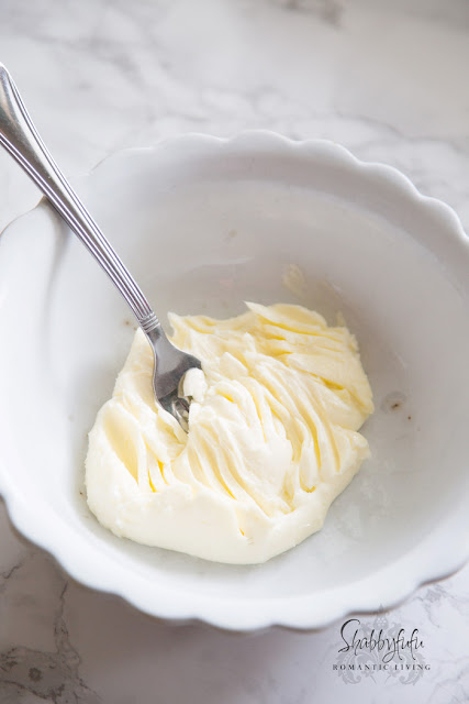 butter stirred with a fork