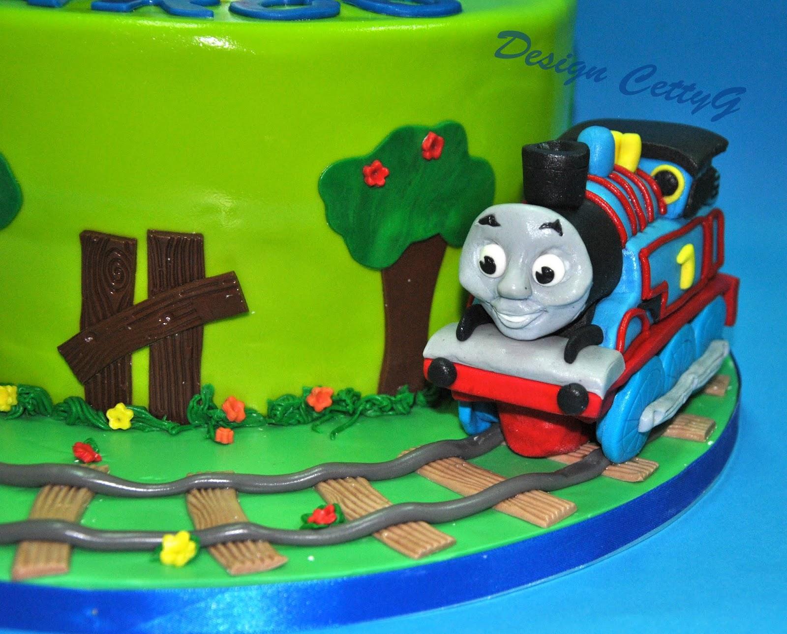 Le torte decorate di cetty g thomas cake for Decorazioni torte trenino thomas