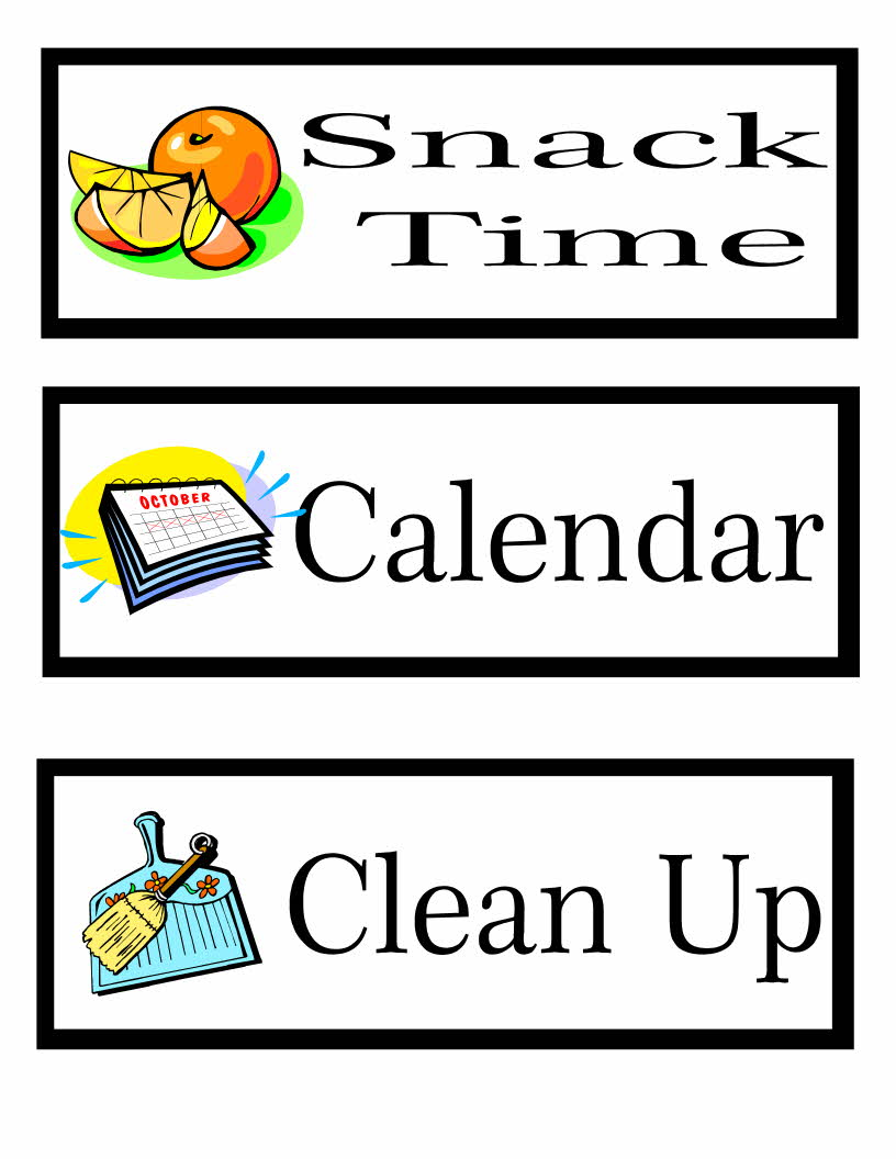 preschool classroom schedule template - printable preschool schedule cards learning to be a mom