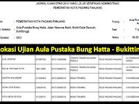 Jadwal dan Nama Peserta UJIAN CAT CPNS 2018 - Kota Padang Panjang, Download Disini !!!
