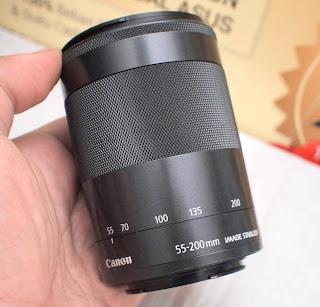 Lensa EF-M Canon 55-200mm Bekas ( mirrorless Canon )