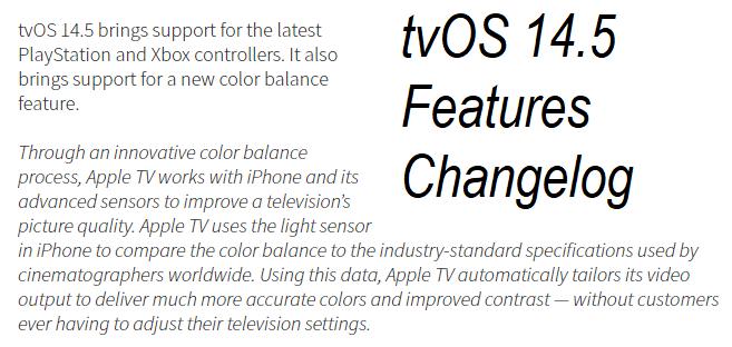 tvOS 14.5 Features