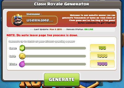 ... cara hack gems dan gold clash of royale terbaru, silahakan disimak