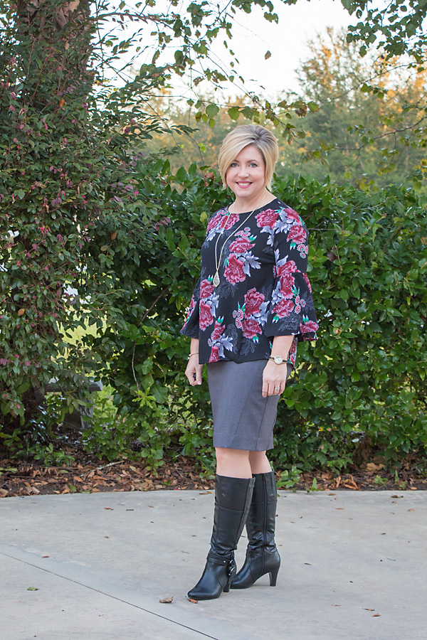 Bell sleeves and boots