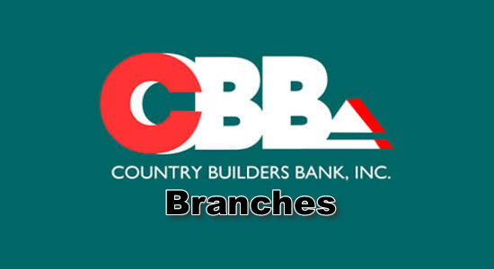 List of CBB Branches nationwide