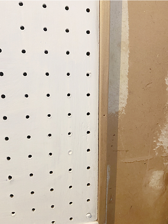 pegboard with frame