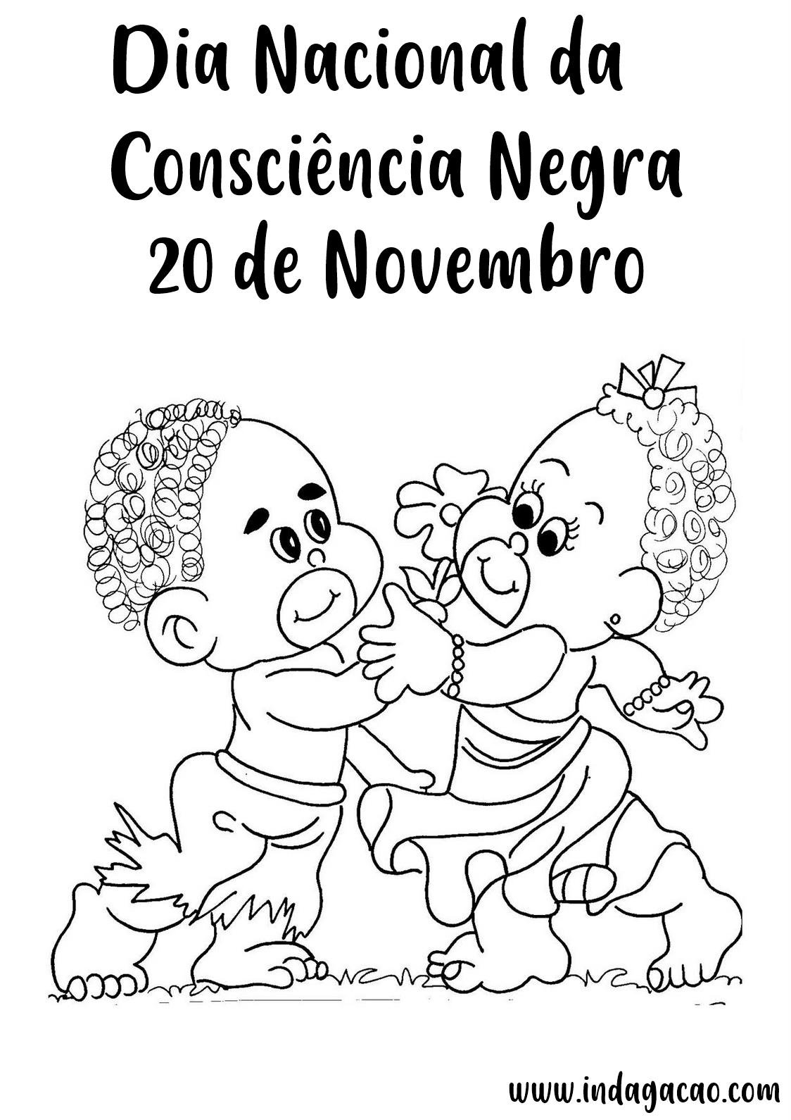 Desenhos Consciência Negra 20 De Novembro Para Colorir
